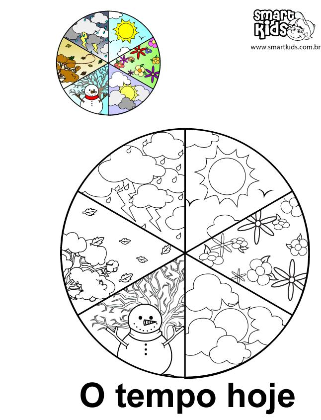 Colorir Desenho O Tempo Hoje (com imagens) - Mapa do tempo ...