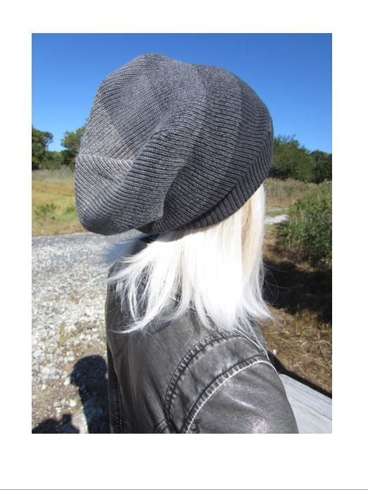 980d3a87480a2 Slouchy Dreadlock Tam Big Head Beanie Unique Charcoal Gray OMBRE Stripe  Oversized Thick Warm Winter Knit Dread Hat A1966 / A1837 by Vacationhouse  on Etsy