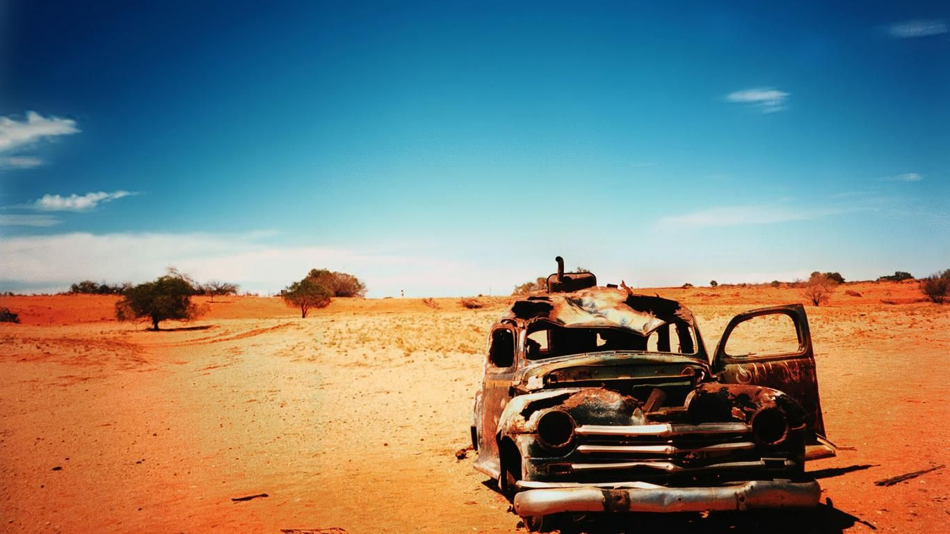 Hd wallpaper photography - Photography Alone Car Desert Old Photography Hd Wallpaper With 1366x768 Resolution