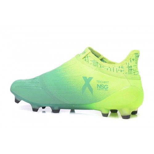 Baratas 2017 Adidas X 16 Purechaos FG AG Amarillo Verde Botas De Futbol fa5868d764a23