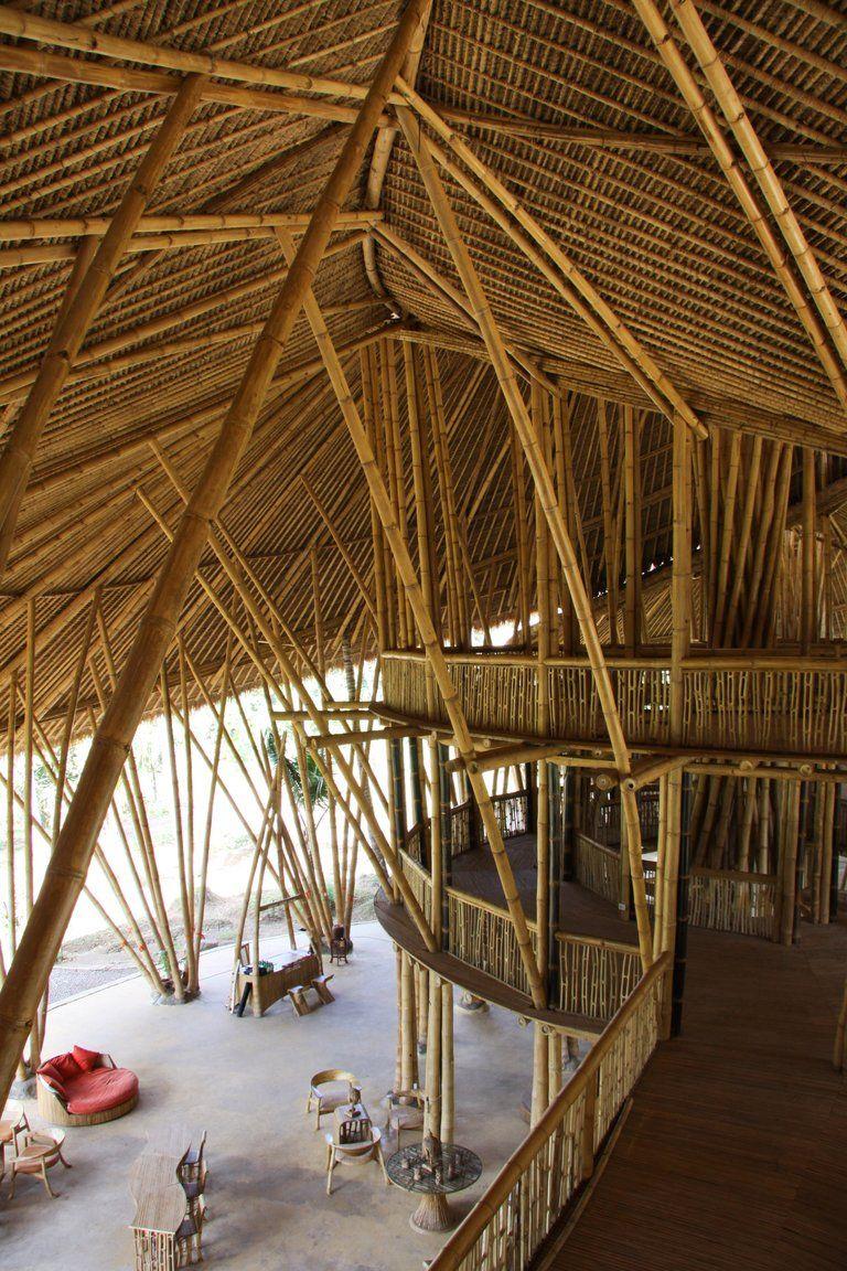 architecture bambou indonesie architecture bois. Black Bedroom Furniture Sets. Home Design Ideas