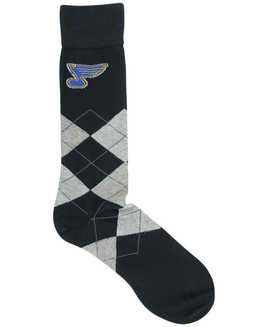 For Bare Feet St. Louis Blues Argyle Dress Socks