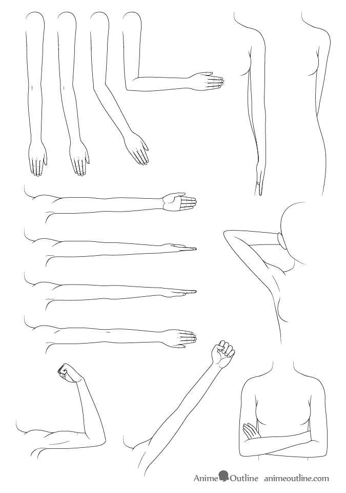 How To Draw Anime Manga Arms Tutorial Arm Drawing Manga Drawing Tutorials Anime Drawings Drawing Anime Hands