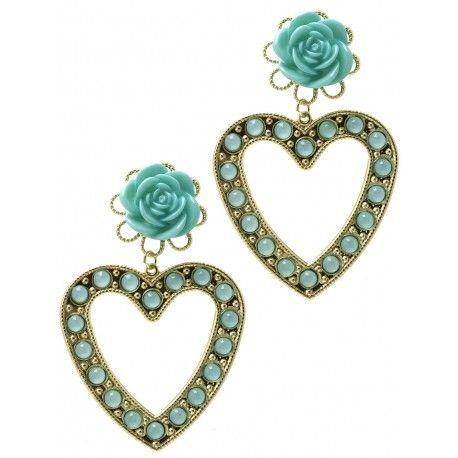 Rose Heart earrings