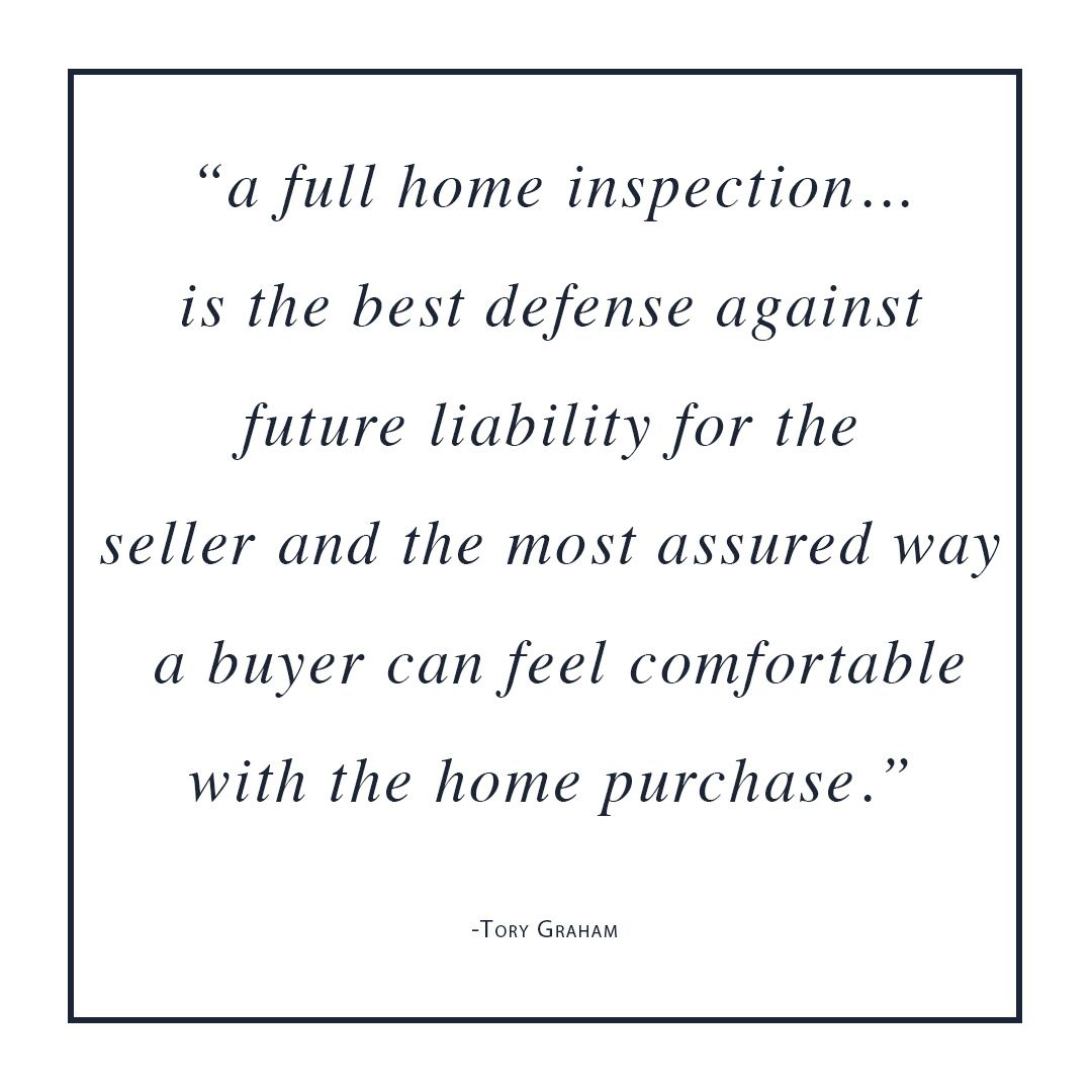 Always get a home inspection call us to schedule an