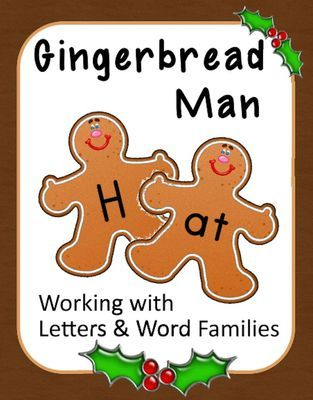 Gingerbread Man Literacy: Letters, Word Families, Digraphs & Blends from 1 2 3 Creations by L Ackert on TeachersNotebook.com -  (108 pages)  - This 100+ page unit has everything you need to have Gingerbread Man fun learning letters and making words with word families! Create learning stations, file folder games, practice spelling words!