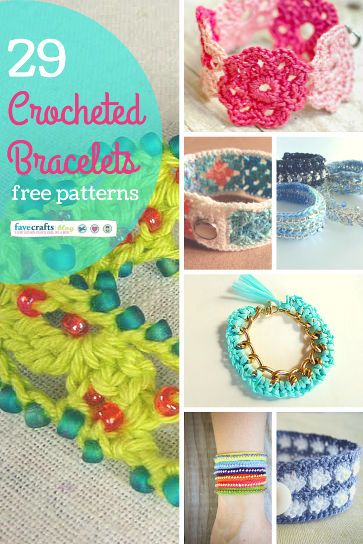 29 Crocheted Bracelets | jewelry and hair | Pinterest | Bisutería ...