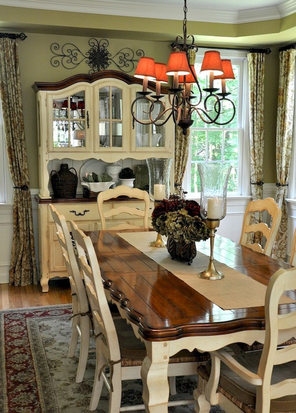 50 Beautiful French Country Dining Room Design and Decor Ideas images