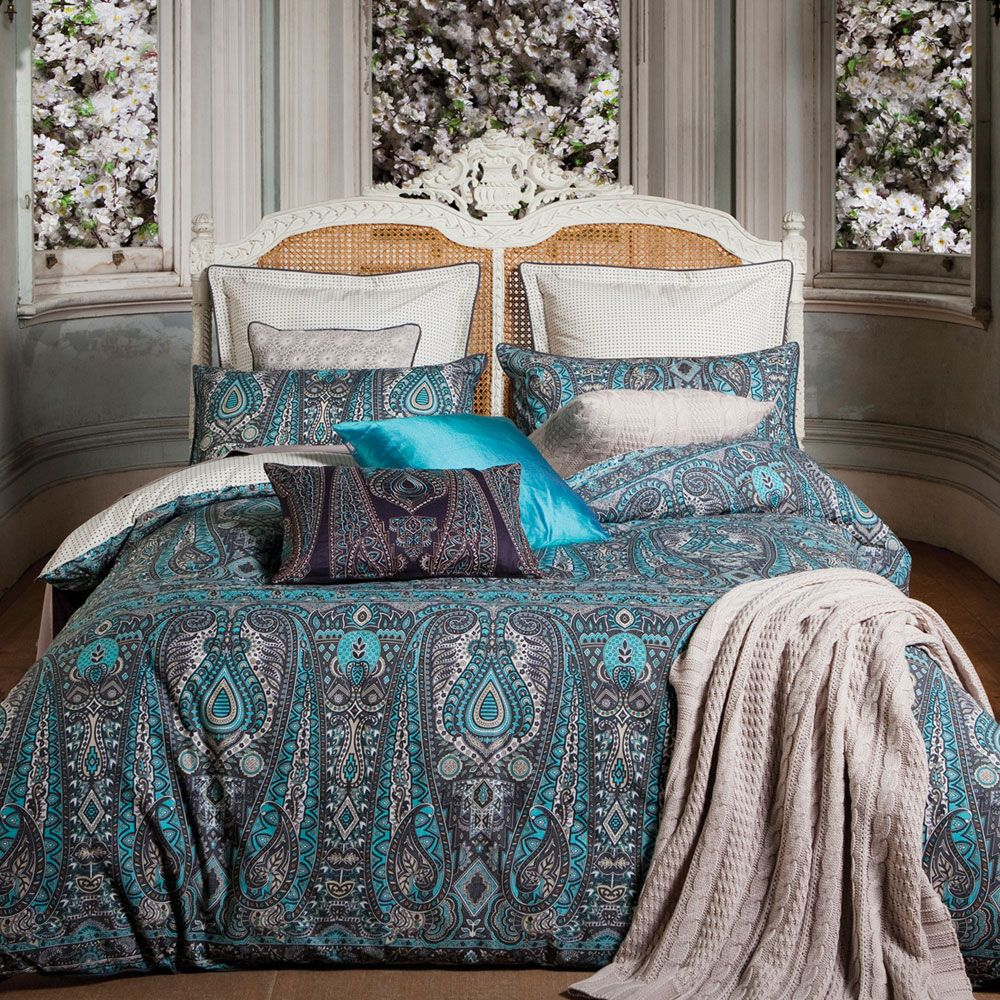 Kas Australia Persia Bed Linen Set Travel To Exotic Climes From The Comfort Of Your Own Bedroom With This 300 Thread Count Cotton Sa