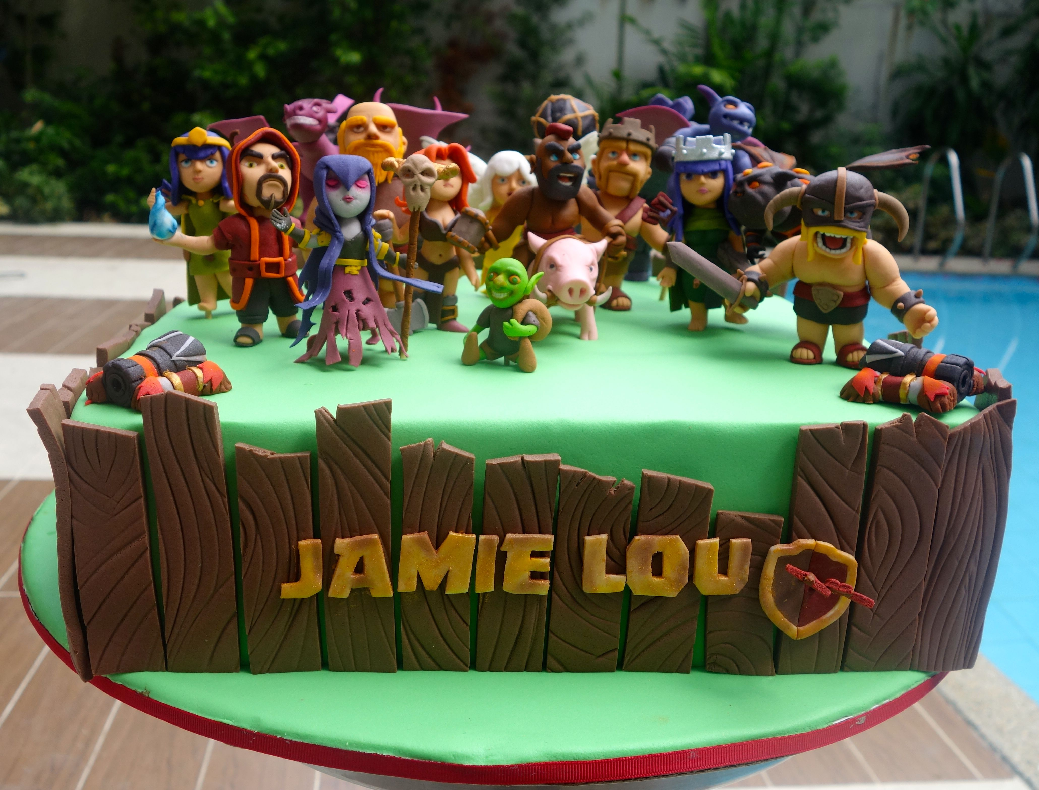 Clash Of Clans Cake Video Game Cakes Cake Party