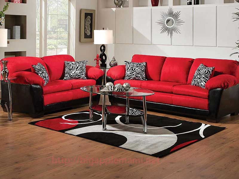 nice Red And Black Living Room Sets | Home Furniture in 2019 ...