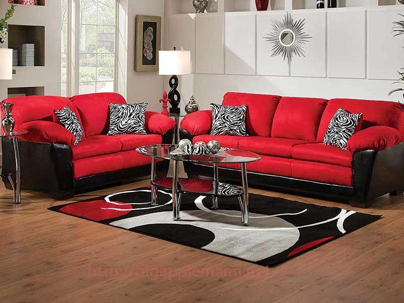 Muebles De Sala Rojo Con, Red Living Room Furniture
