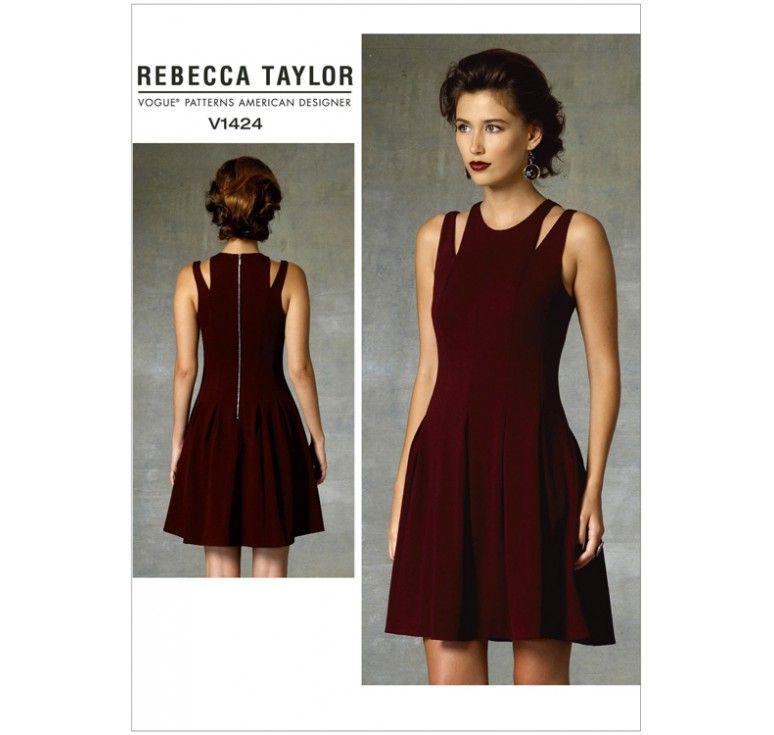 Patron Vogue V1424 : Robe Taille : 42-50   Tuto couture diy   Pinterest