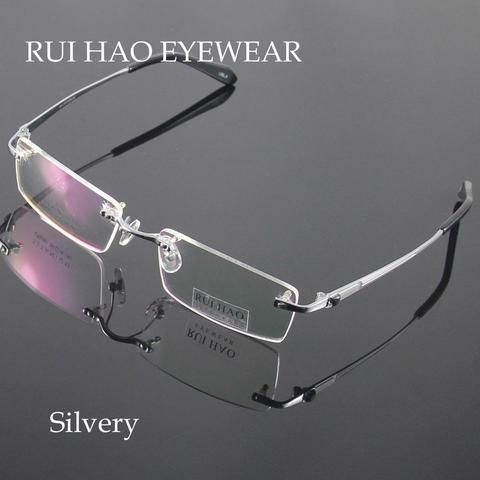ab591fed347c Unisex Eyeglasses Men Rimless Glasses Frame Titanium Eyeglasses Frames  Optical Spectacles Eyewearmodlilj