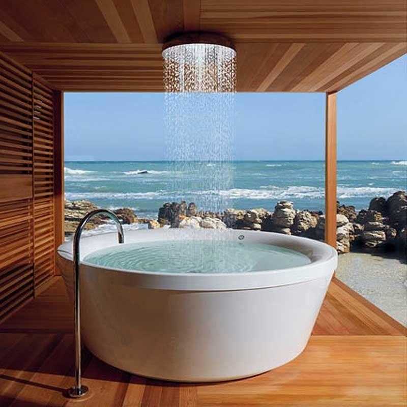 16 Photos Of The Creative Design Ideas For Rain Showers Bathrooms Beautyharmonylife My Dream Home Dream House Outdoor Bathrooms
