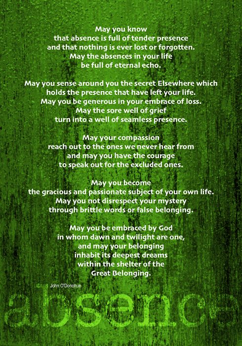 Blessing By John O Donahue Quot May Your Belonging Inhabit Its