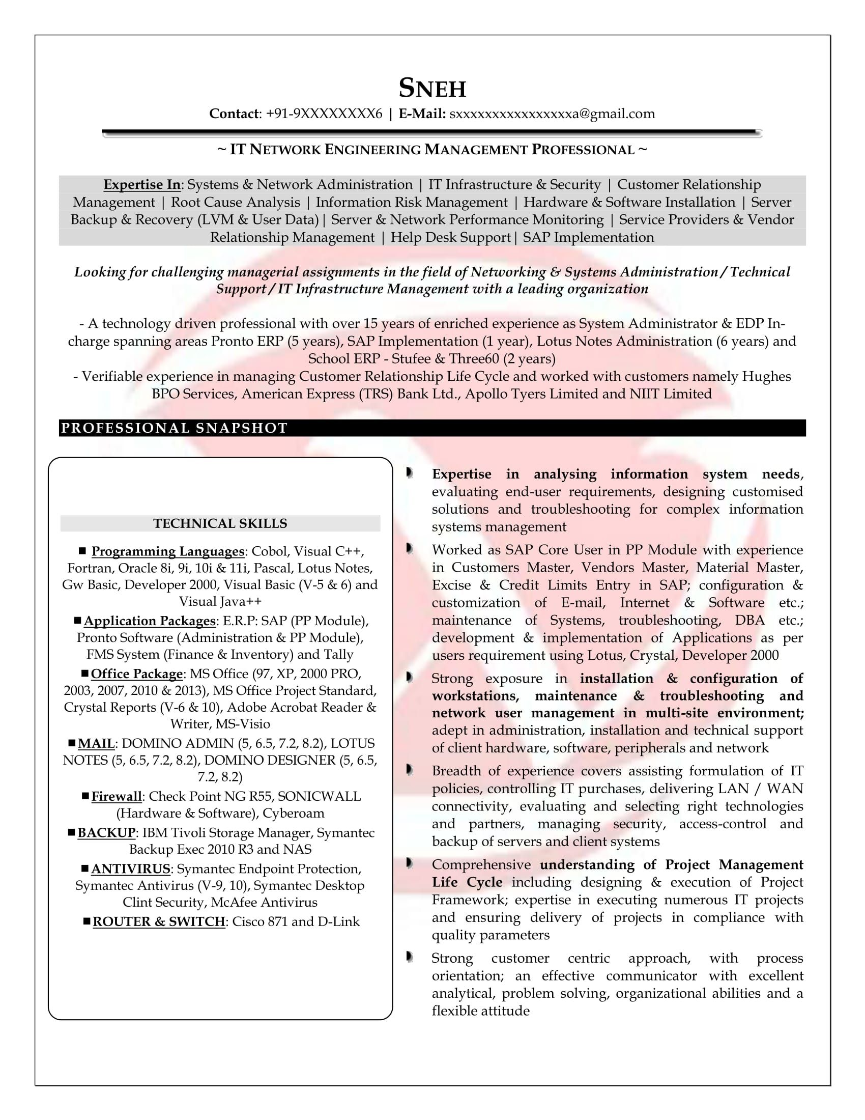 Sample Resume Format For 5 Years Experience Job resume