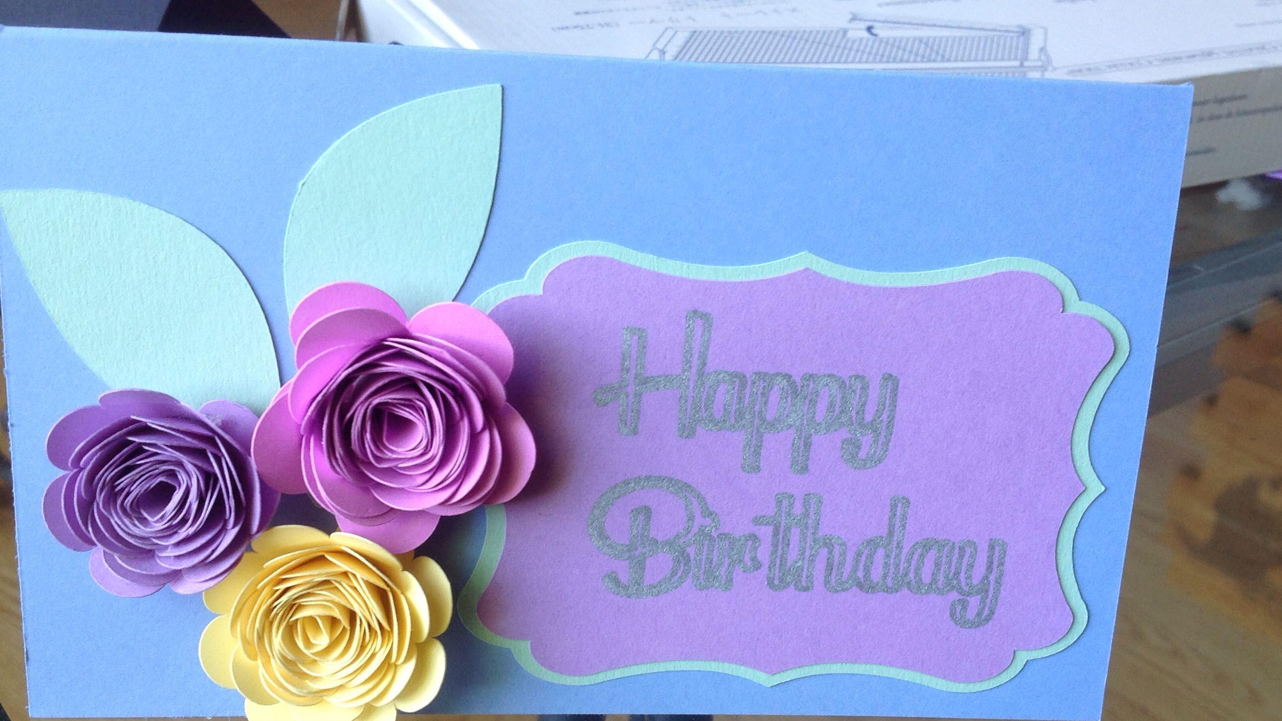 3d floral birthday card  birthday cards cricut design