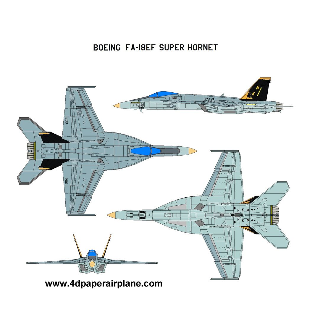 4d Paper Airplane Model Kit Paper Airplane Template With Images Papier Samolot