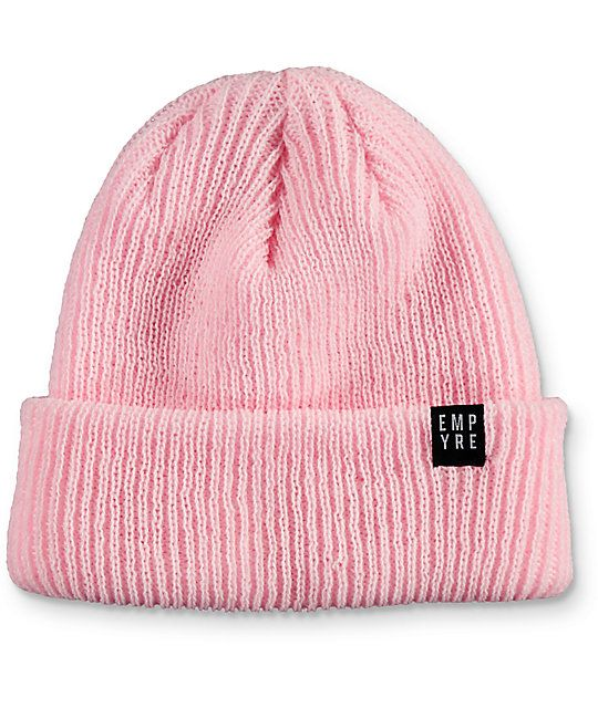 17138f665e7 Keep your head cozy in a pastel colorway with the Carter soft pink beanie  from Empyre