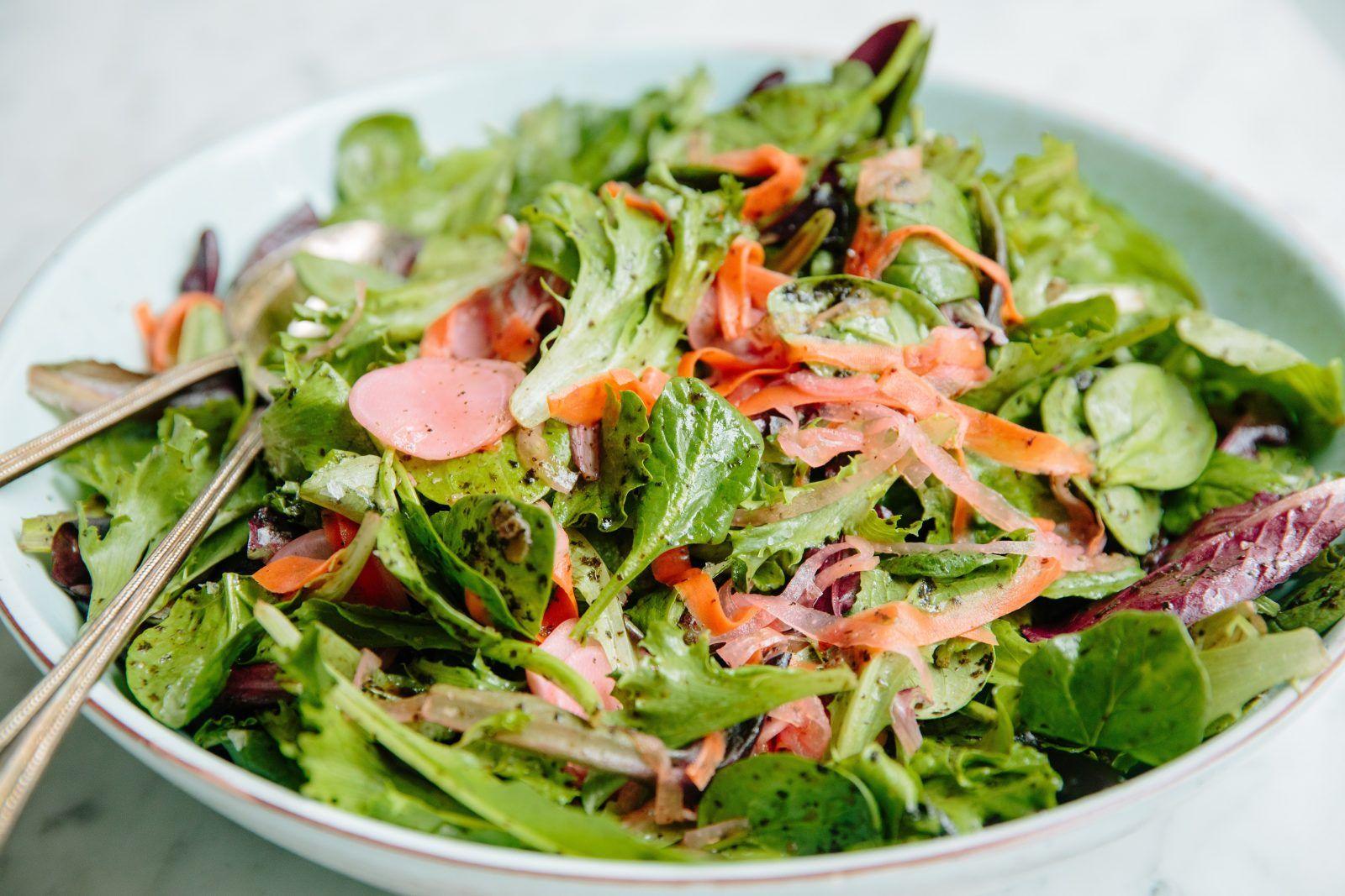 Eventide green salad with nori vinaigrette recipe in