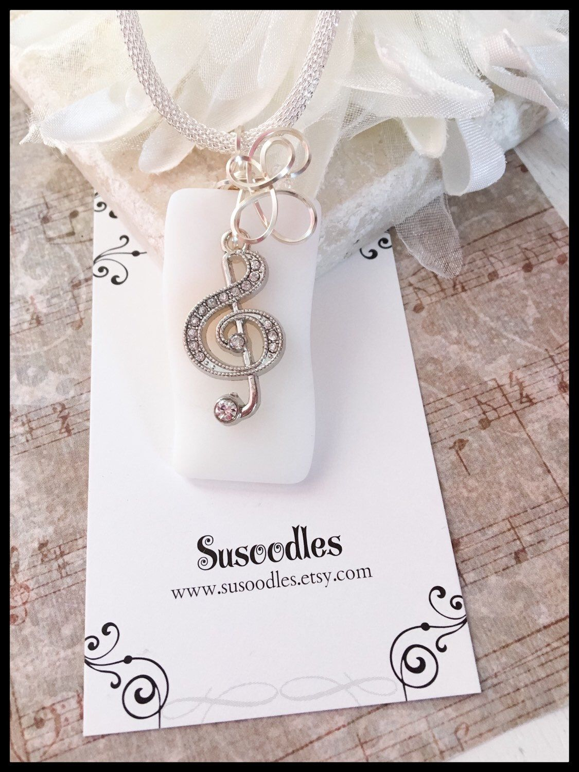 wire wrapped recycled glass pendant. Treble Clef Music Note Wire Wrapped Recycled Glass Pendant Necklace For Sale On Etsy, Y