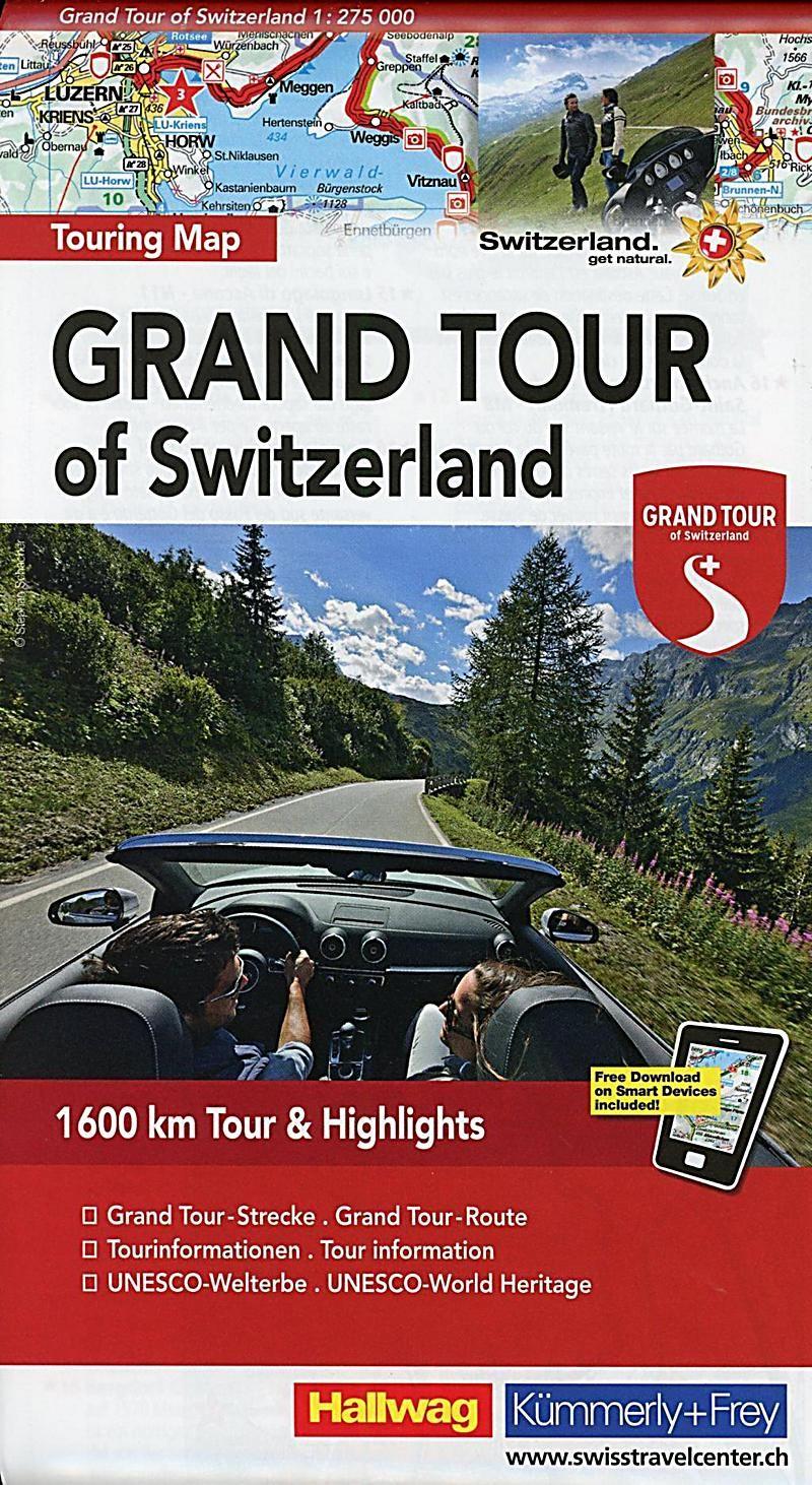 Grand Tour Of Switzerland Touring Map Karte Im Sinne Von