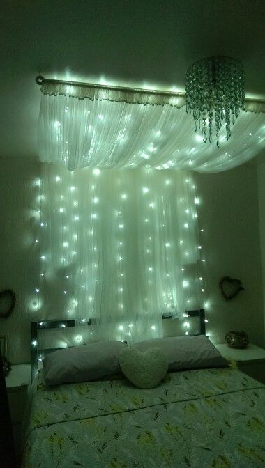 35 Fantastic Led String Lights Decor Girls Bedroom images