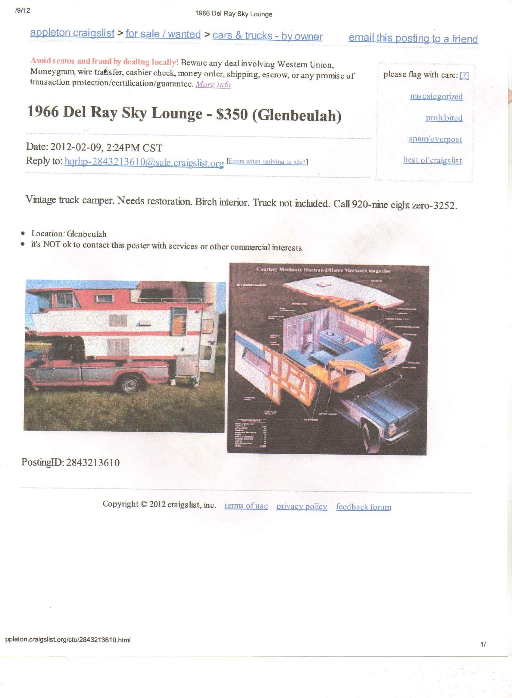 Craigslist Canon City Co The trailer is at a shipping company and ebay would call you to get payment. heraldo
