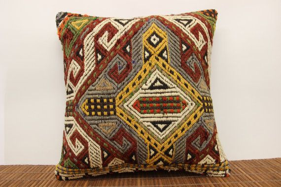 Chevron kilim pillow cover 18 x 18 Vintage kilim by kilimwarehouse, $53.00