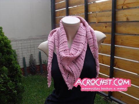 Una Palestina con Piquitos | Blog a Crochet – ACrochet – Tejidos y ...
