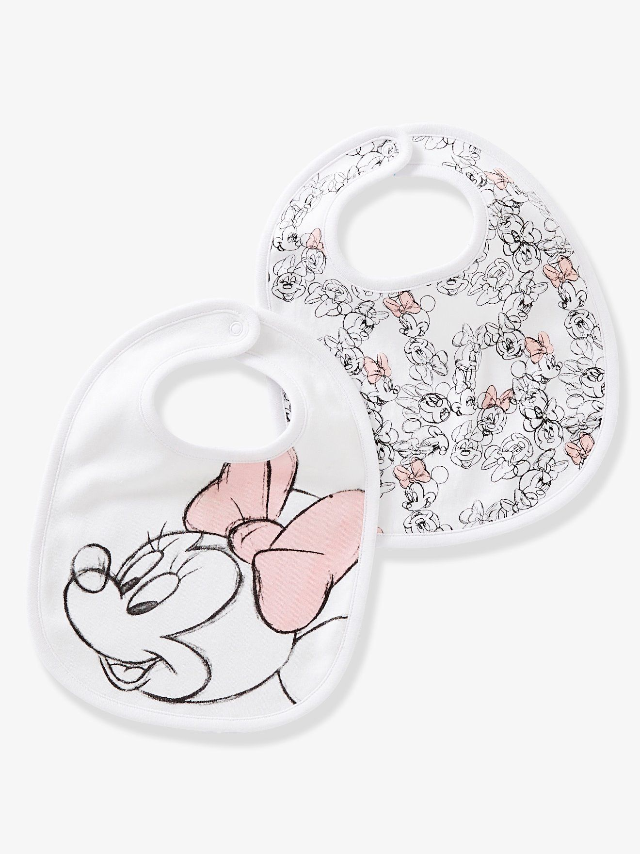 d33d940e2d564 Lot de 2 bavoirs bébé Minnie® imprimés - assortis blanc | Vertbaudet ...