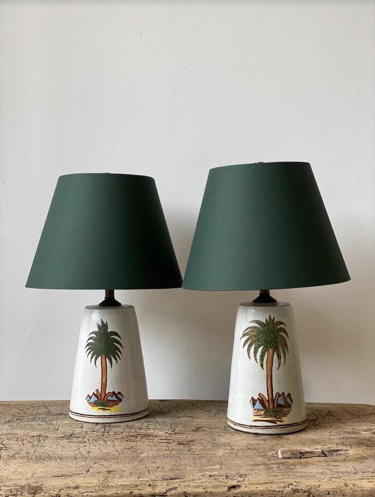 Rebekah Miles Ceramic Palm Table Lamps In 2020 Lamp Ceramic Table Lamps Table Lamp