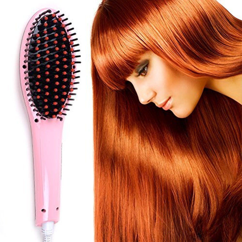 Creative hair straightener hair brush instant straightening styling