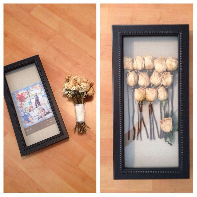Hobby Lobby Wedding Ideas: DIY Framed Wedding Bouquet! $25 Box Frame From Hobby Lobby