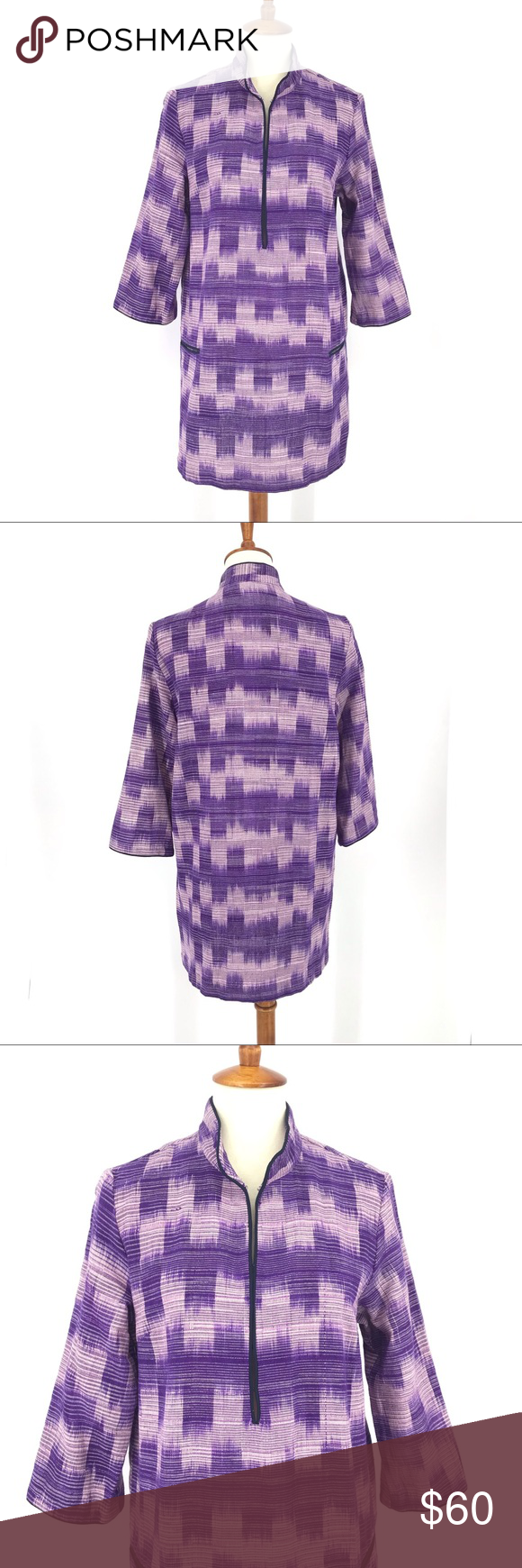"Emerson Fry Ikat Tunic Emerson Fry purple weave tunic shirt kaftan. Features front pockets, silk piping, and hook eye front closure. Excellent preowned condition.   FLAT LAY MEASUREMENTS: Bust is 19"" Sleeve is 18"" Length is 32"" Emerson Fry Tops Tunics #emersonfry Emerson Fry Ikat Tunic Emerson Fry purple weave tunic shirt kaftan. Features front pockets, silk piping, and hook eye front closure. Excellent preowned condition.   FLAT LAY MEASUREMENTS: Bust is 19"" Sleeve is 18"" Length is 32 #emersonfry"