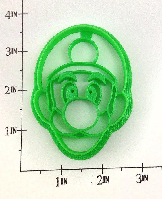 Luigi Cookie Cutter By Warpzone On Etsy 5 50 Luigi