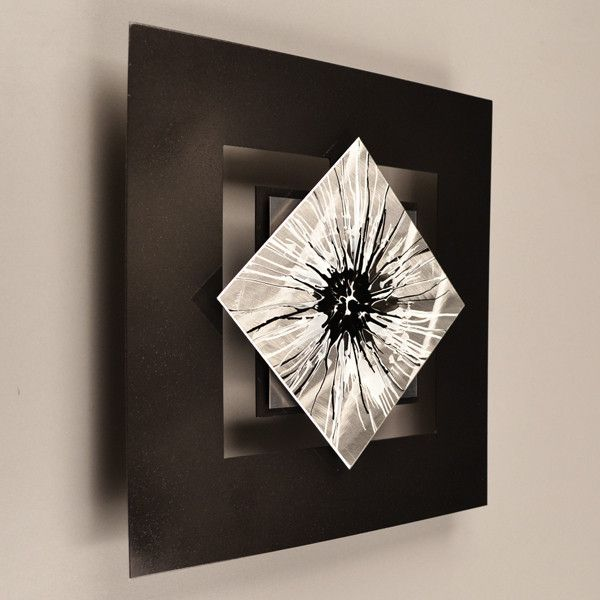 D12p perceptions series black white 12 x 12 wall modern
