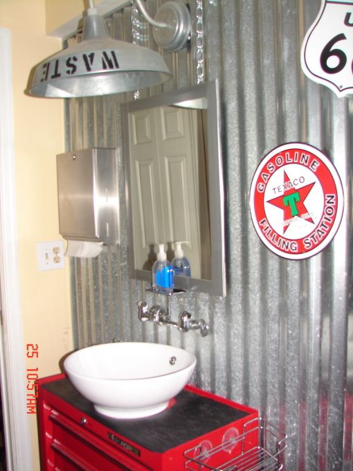 Gas Station Bathroom Man Cave Bathroom Bathroom Sink Vanity Man Cave Basement