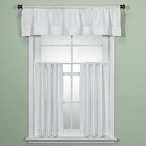 Maison White Kitchen Window Curtain Tiers With Images Kitchen