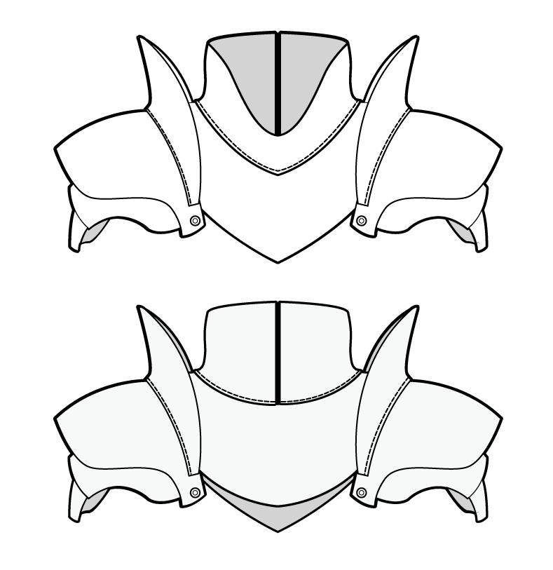 Armour pattern | Costuming DIYs | Pinterest | Pattern, Leather ... on homemade iron man armor, homemade cardboard armor, homemade body armor, homemade bulletproof armor,