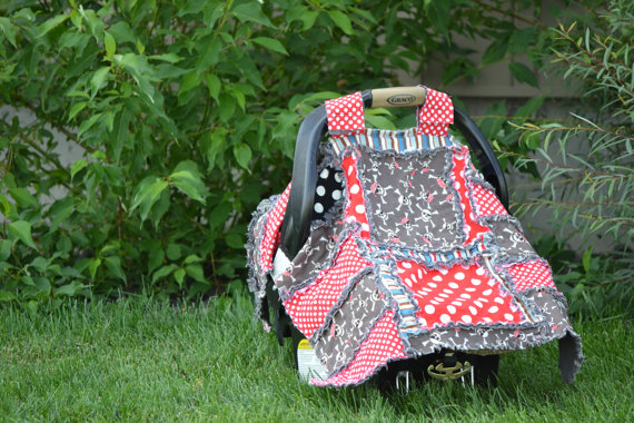 Carseat Canopy Pattern - Addy Mae Rag Quilt Patterns - Simple Quilt ...