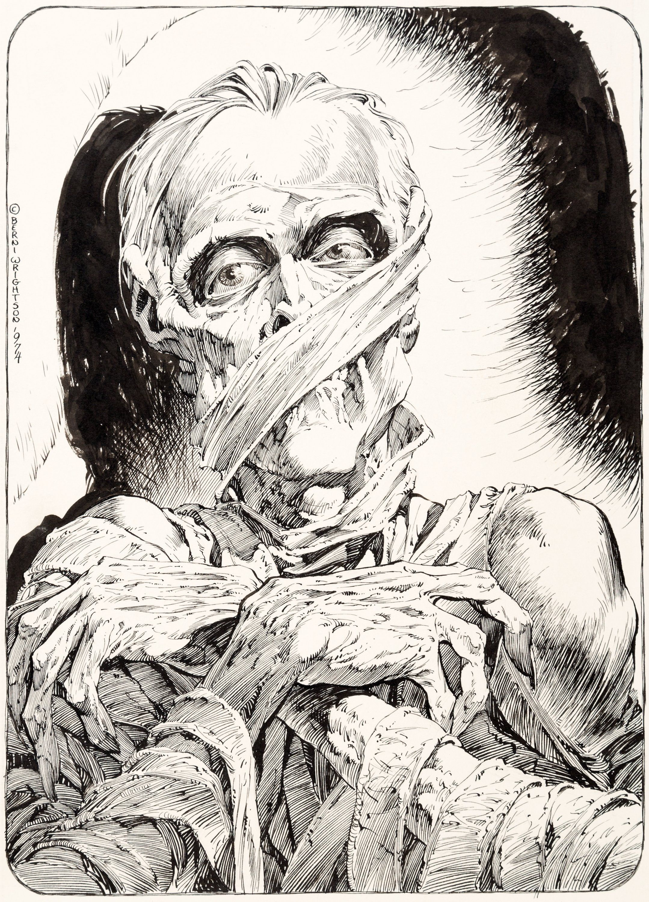 Bernie Wrightson Monsters: Color the Creature Illustration \