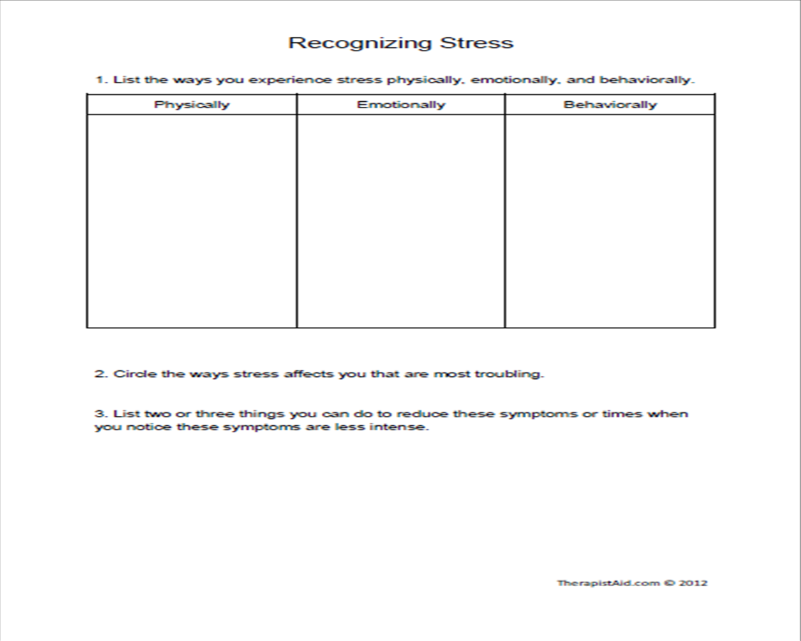Substance Abuse Worksheets | Homeoutsidethebox.com