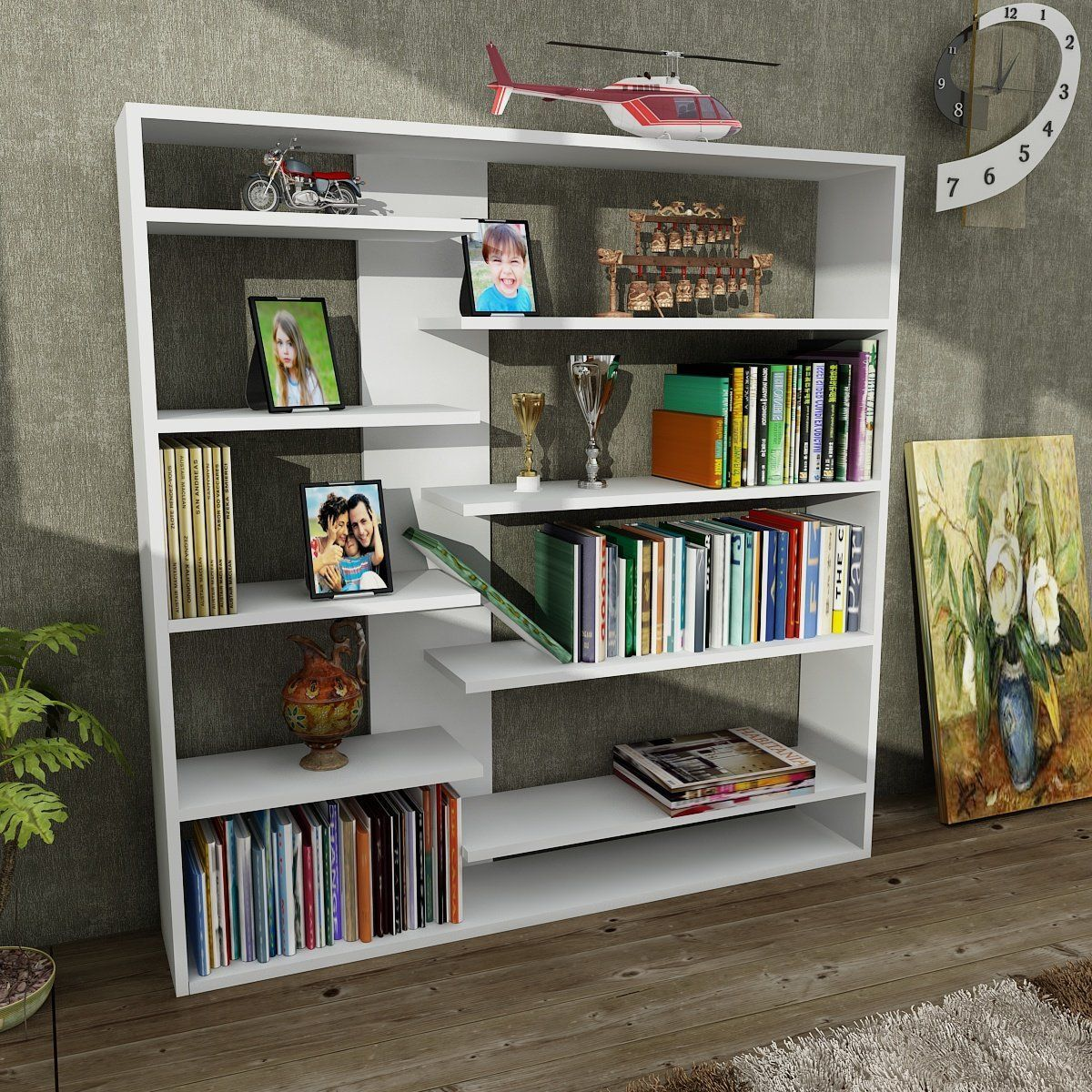 Bishop Modern Bookcase Shelving Unit