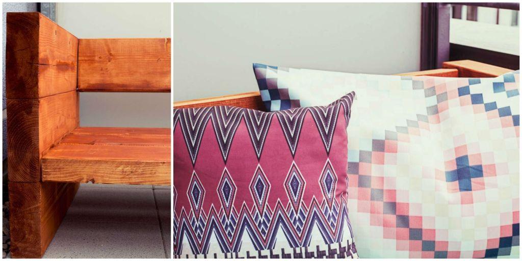 DIY Holzsofa Outdoor | Holzsofa, Diy sofa, Sitzecke