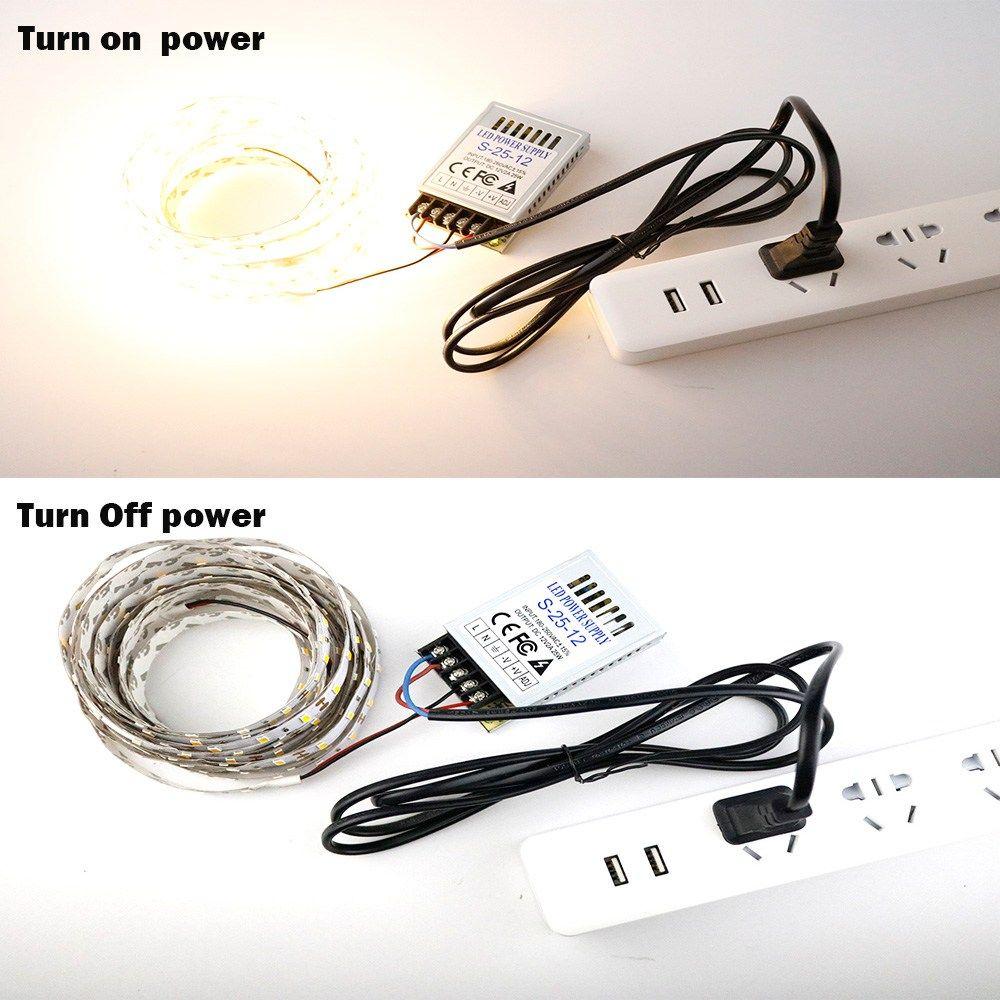 Dc12v 25w 2a Lighting Transformer 180 260v To 12v Led Driver Switch Power Supply Adapter For Cctv 5050 3528 2835 5630 Led Stri Led Drivers 12v Led Power Supply