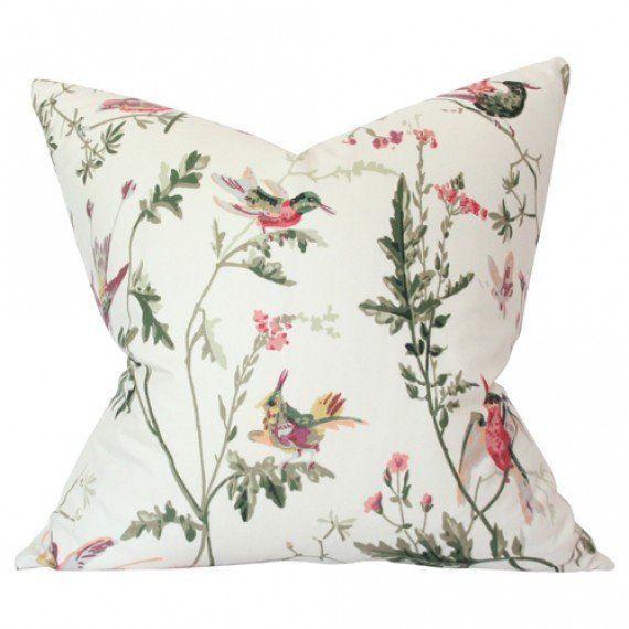 Hummingbirds Cream pillow