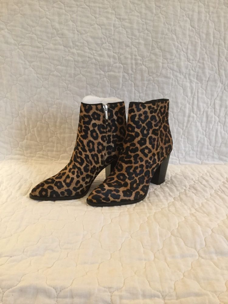 2852eb5e7 Sam Edelman Blake Leopard Brahma Bootie  fashion  clothing  shoes   accessories  womensshoes  boots (ebay link)