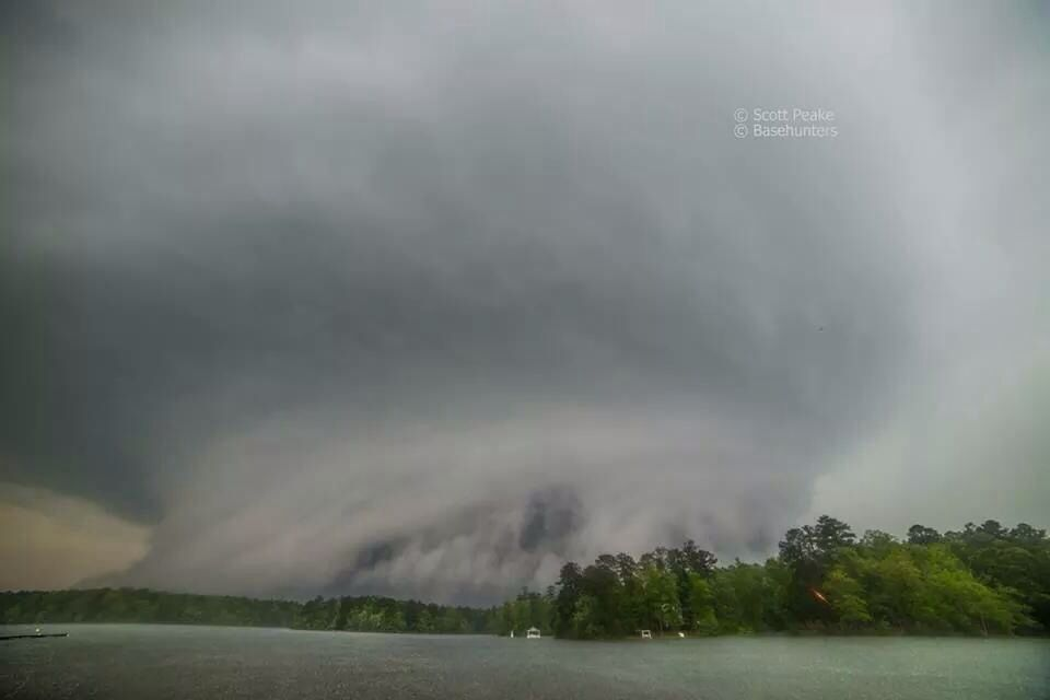 Louisville Mississippi Supercell Ef4 Tornado As It Began It S